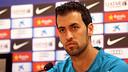 Sergio Busquets spoke to the press on Thursday / PHOTO: MIGUEL RUIZ - FCB