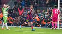Messi, face à Getafe. PHOTO: GERMÁN PARGA-FCB.
