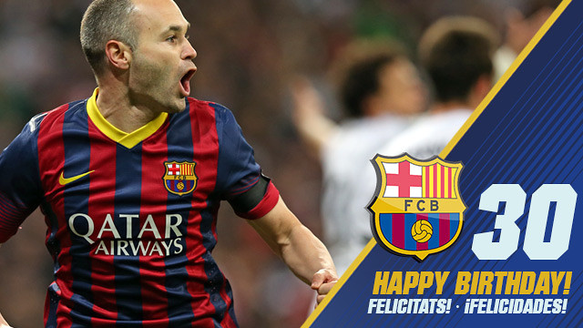 Andrés Iniesta is 30 today