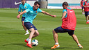 Isaac Cuenca in training at the Ciutat Esportiva / PHOTO: MIGUEL RUIZ - FCB