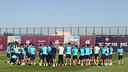 El Barça ha tornat a entrenar amb la vista posada en el dissabte / FOTO: MIGUEL RUIZ - FCB