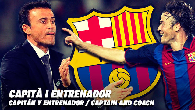 Luis Enrique, player, captain and coach