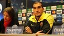 Pinto, durant una roda de premsa / FOTO: MIGUEL RUIZ - FCB