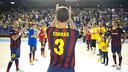 El capità Jordi Torras va rebre l'homenatge del Palau Blaugrana / FOTO: VÍCTOR SALGADO - FCB