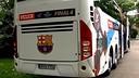 L'autocar amb el que es mou el Barça d'handbol per Colònia
