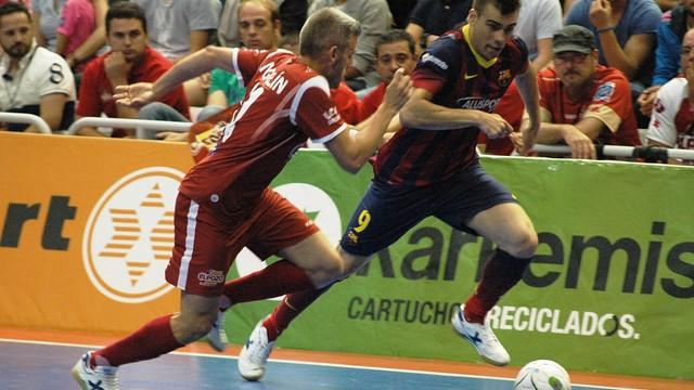 Lozano davant Miguelín.