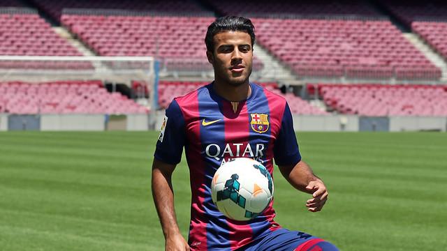 Rafinha is back at thel Camp Nou / PHOTO: MIGUEL RUIZ - FCB
