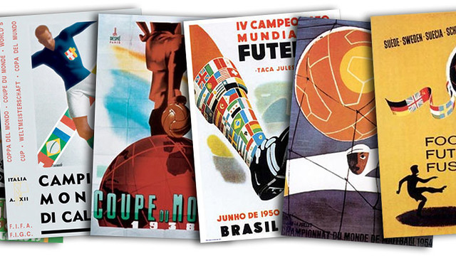 Posters from the first World Cup Finals