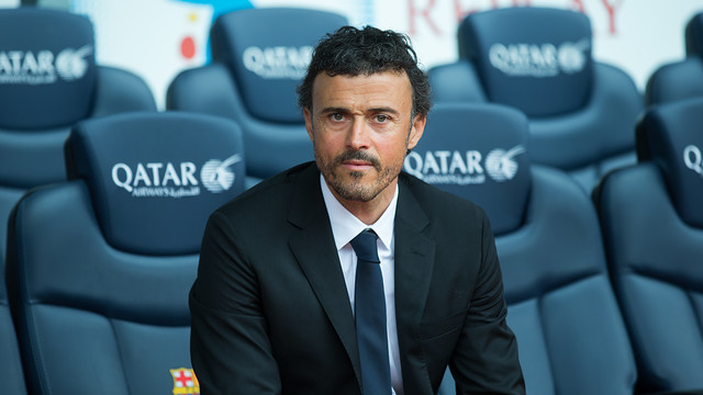 Luis Enrique, on the day of his presentation / PHOTO: GERMÁN PARGA - FCB