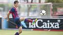 Abel Ruiz, of the FCB U14 team got two of the goals this week / PHOTO: VÍCTOR SALGADO - FCB