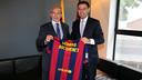 Gérard Bocquenet  and Josep Maria Bartomeu / PHOTO: MIGUEL RUIZ - FCB
