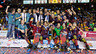 Fotografia de grup després de guanyar la Lliga Europea al Palau