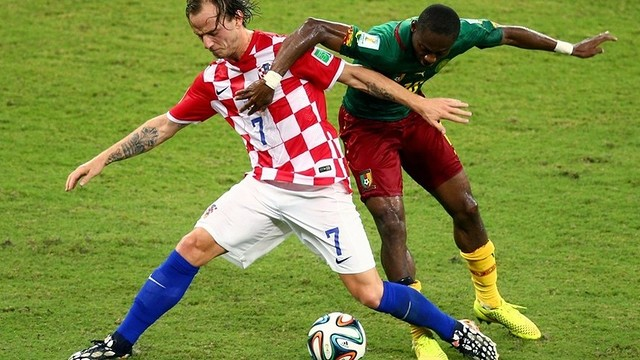 Rakitic played at the World Cup, seen here against Cameroon. PHOTO: FIFA.COM