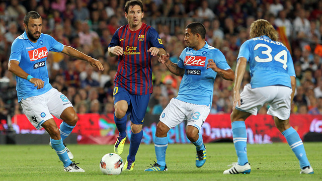 Messi scored twice against Napoli at the Gamper 2011 / PHOTO: MIGUEL RUIZ - FCB