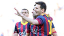 Messi avec ses coéquipiers / PHOTO: ARXIU FCB