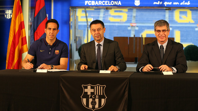 Bravo, Bartomeu and Mestre. PHOTO: MIGUEL RUIZ-FCB.