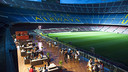 The Camp Nou Lounge at night - truly remarkable / PHOTO: FCB