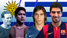 Pictures of various Uruguayans that have represented FCB