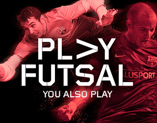 promotional picture with the words play futsal