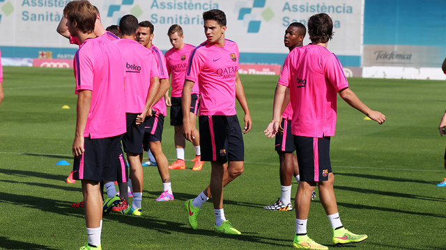 Marc Bartra was among the players at the first session of 2014/15 / PHOTO: MIGUEL RUIZ - FCB