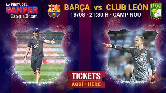 Luis Enrique and Ter Stegen promote the Gamper.