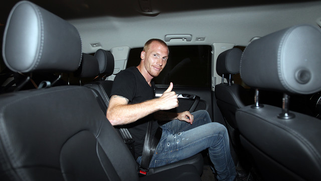 Jérémy Mathieu is in Barcelona and this Thursday will be his presentation / PHOTO: MIGUEL RUIZ - FCB