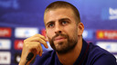 Piqué, during the press conference / PHOTO: MIGUEL RUIZ-FCB