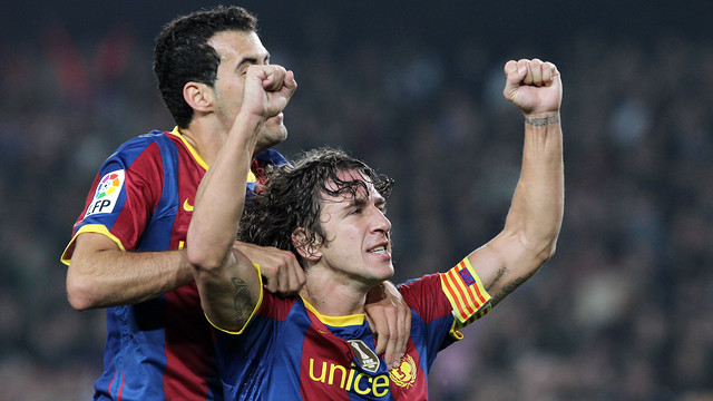 Puyol wishes for former team-mate Busquets to take his famous shirt number / PHOTO: FCB ARCHIVE
