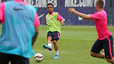 Xavi suffered a calf strain in training on Monday/ PHOTO: MIGUEL RUIZ - FCB