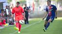 Sergio Juste, en el partido contra l'Escala / FOTO: VÍCTOR SALGADO - FCB