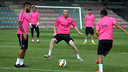Mathieu, during training this Friday / PHOTO: MIGUEL RUIZ-FCB