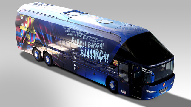 The new design on the first team bus / PHOTO: FCB