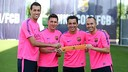 The four first team captains all came through La Masia/ PHOTO: MIGUEL RUIZ - FCB