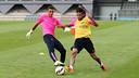 Masip et Neymar Jr, lundi / PHOTO: MIGUEL RUIZ-FCB