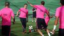 Ter Stegen, en el entrenamiento de esta tarde en la Ciudad Deportiva / FOTO: MIGUEL RUIZ - FCB