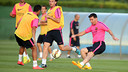Leo Messi at Wednesday afternoon's training session / PHOTO: MIGUEL RUIZ - FCB
