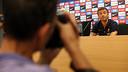 Luis Enrique, in the Ciutat Esportiva press room / PHOTO: MIGUEL RUIZ - FCB
