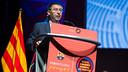 President Bartomeu speaking at the Congress / PHOTO: GERMÁN PARGA-FCB