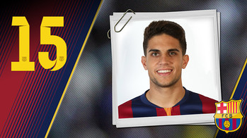 Portrait Marc  Bartra Aregall. Number 15