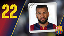 Portrait Daniel Alves da Silva. Number 22