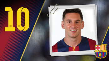 Portrait Lionel Andrés Messi. Number 10