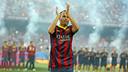 Iniesta, during last year's presentation / PHOTO: ARXIU FCB