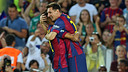 Messi and Neymar celebrate a goal/ PHOTO: MIGUEL RUIZ-FCB