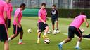 Messi, pendant un entrainement. PHOTO: MIGUEL RUIZ - FCB