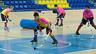 Pablo Álvarez controla la bola en un entrenamiento en el Palau de esta pretemporada