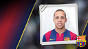 Imatge oficial de Ferrao amb la samarreta del FC Barcelona