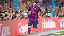 Messi scored twice against Club Leon in the Gamper / PHOTO: MIGUEL RUIZ-FCB