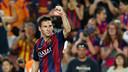 Messi fête son premier but / PHOTO: MIGUEL RUIZ-FCB