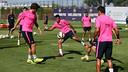 Neymar Jr ha vuelto a trabajar con el resto de compañeros / FOTO: MIGUEL RUIZ - FCB