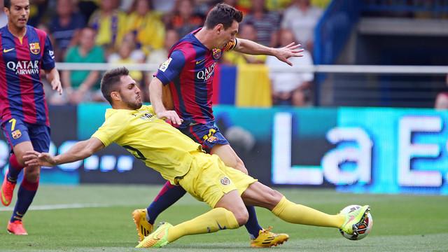 Messi and Víctor Ruiz / PHOTO: MIGUEL RUIZ - FCB.
